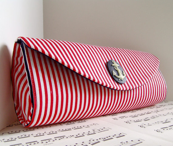 nautical clutch purse - clutch styles