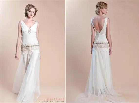 handmade wedding - claire pettibone gown (style: haviland)