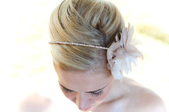 bridal headband instead of veil