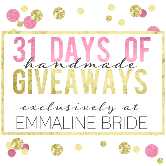 31 days of wedding giveaways
