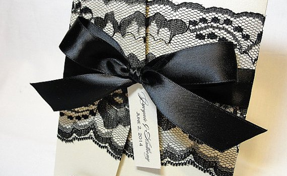 Black Lace Wedding Invitations