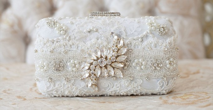 Bridal Clutch Purse by Cloe Noel - Photo by La Candella Weddings - Photo 6 -