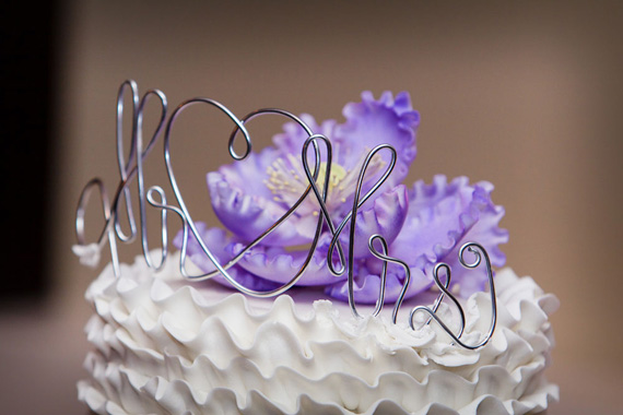 Wedding of Caitlin & Ben at The Villa - mr. and mrs. cake topper