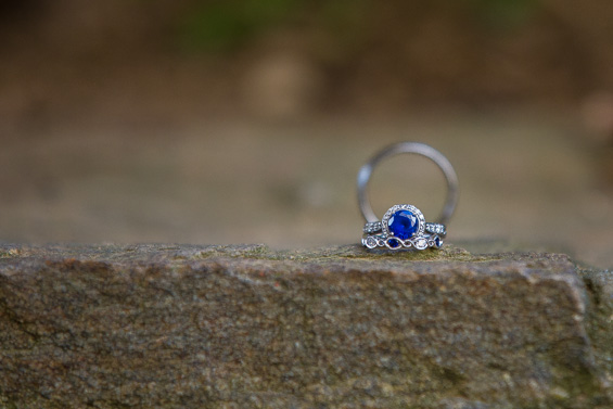 Daniel Fugaciu Photography - wedding ring with blue gemstone