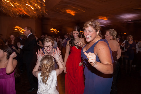 friends celebrate at Philadelphia wedding reception - photo: Daniel Fugaciu Photography | via http://emmalinebride.com