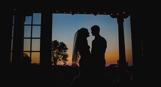 Butler Photography LLC - bride and groom sunset