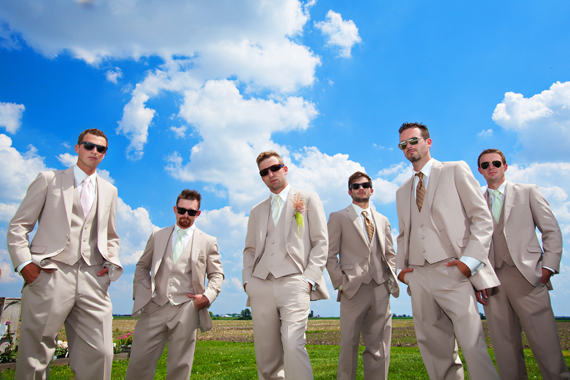 KimAnne Photography - iowa backyard wedding - groom-with-groomsmen