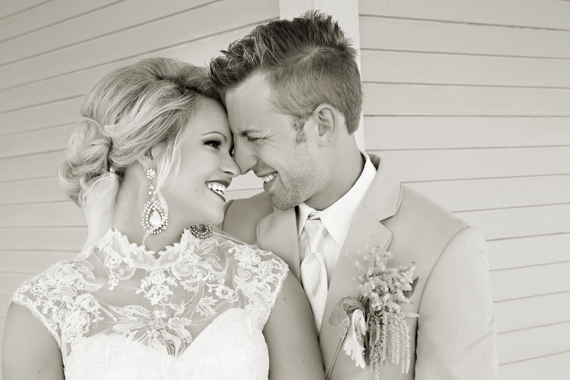 KimAnne Photography - iowa backyard wedding - bride-and-groom-smile