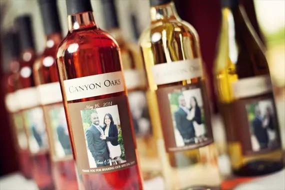 Imagine Studios - custom wine bottle wedding labels