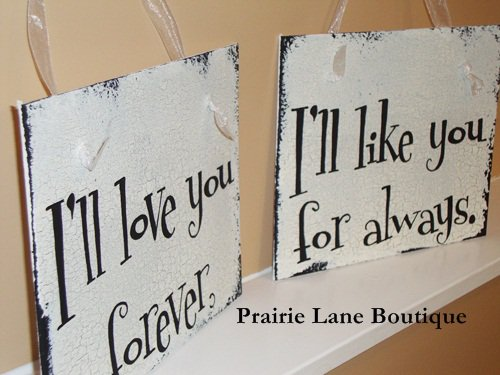 Love You Forever Wedding Signs
