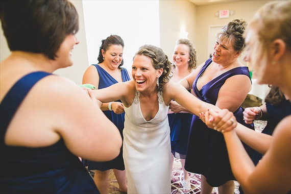 Matthew Steed Wilson Photography - bride having fun getting ready - scrabble themed wedding