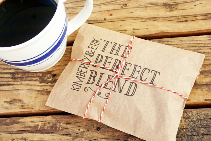 Perfect Blend Coffee Favor BagCheers Whole Bean Coffee Favor Bags | How to Make Coffee Favors