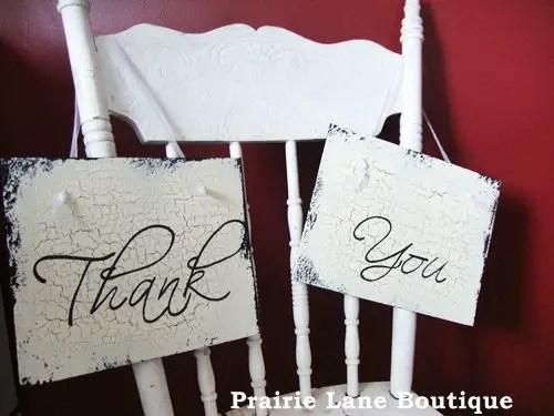 ThankYou Wedding Signs