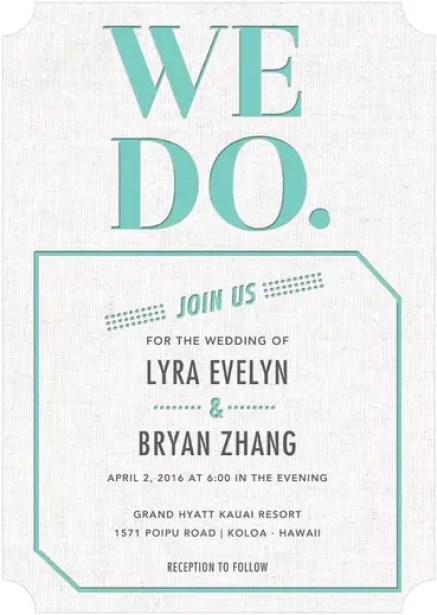 We Do Wedding Invitations