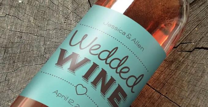 wine labels wedding