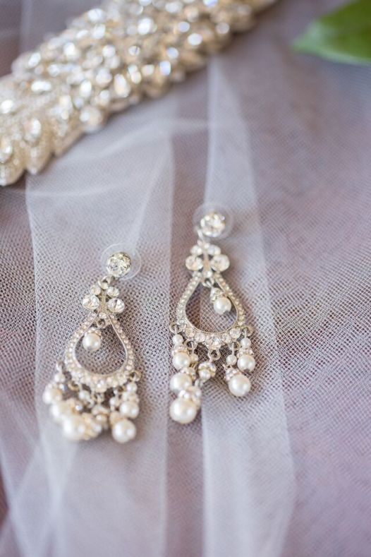 Winery Styled Wedding Shoot - The Bride's Crystal Earrings