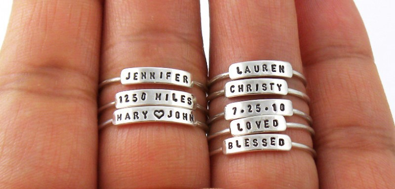 Tiny Personalized Rings | by Silvermore