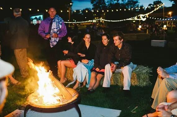 Americana Wedding: bonfire (photo: michelle gardella)