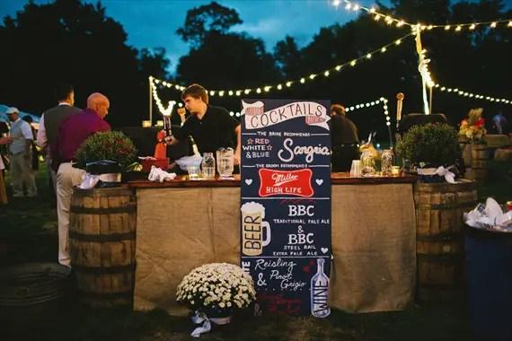 Americana Wedding: Libby + Ernie - bar (photo: michelle gardella)