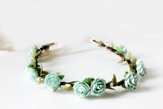 aqua - spring wedding crowns | via http://emmalinebride.com/bride/spring-wedding-crowns/