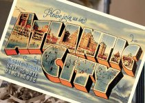 atlantic city postcard save the date