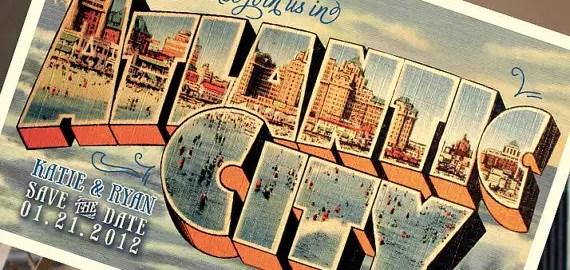 atlantic city postcard save the date
