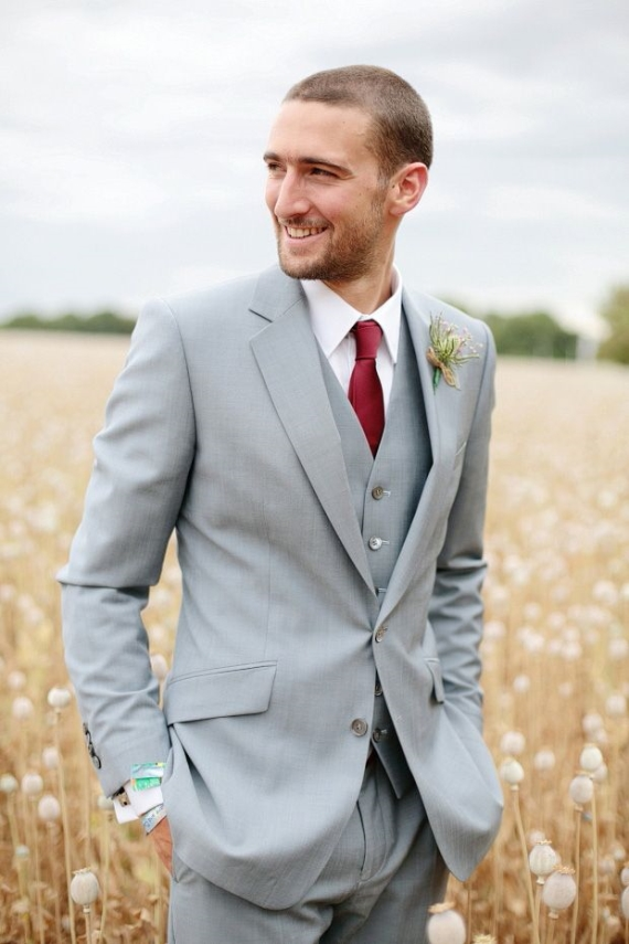 barn wedding groom suit