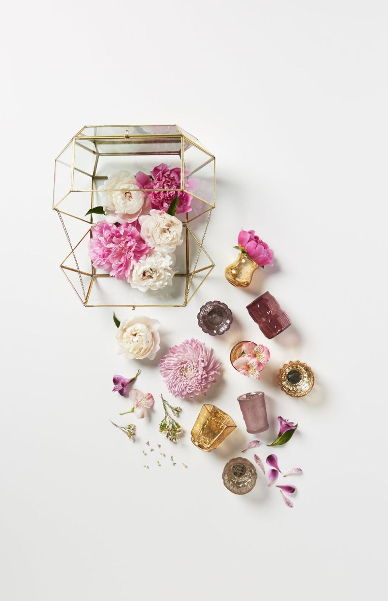 Floral inspired decorations | via BHLDN Decor Ideas | http://emmalinebride.com/vintage/bhldn-decor-ideas-weddings/