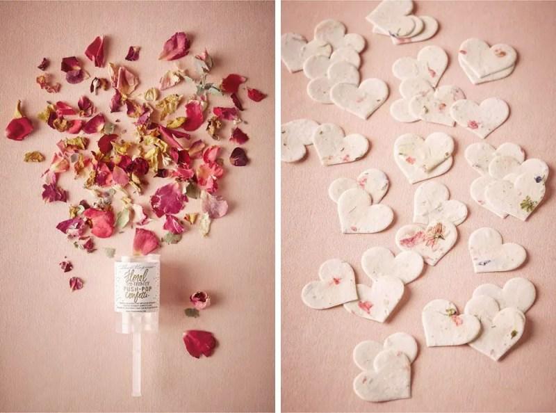Use these confetti push pops at your reception! | via BHLDN Decor Ideas | http://emmalinebride.com/vintage/bhldn-decor-ideas-weddings/