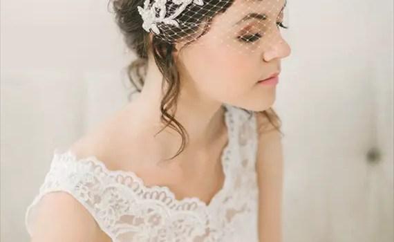birdcage veil lace