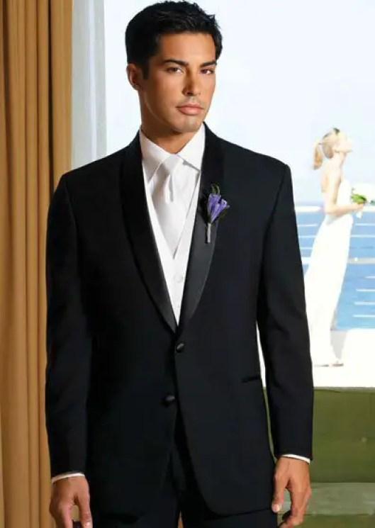 black tuxedo styles for groom groomsmen fall 2014