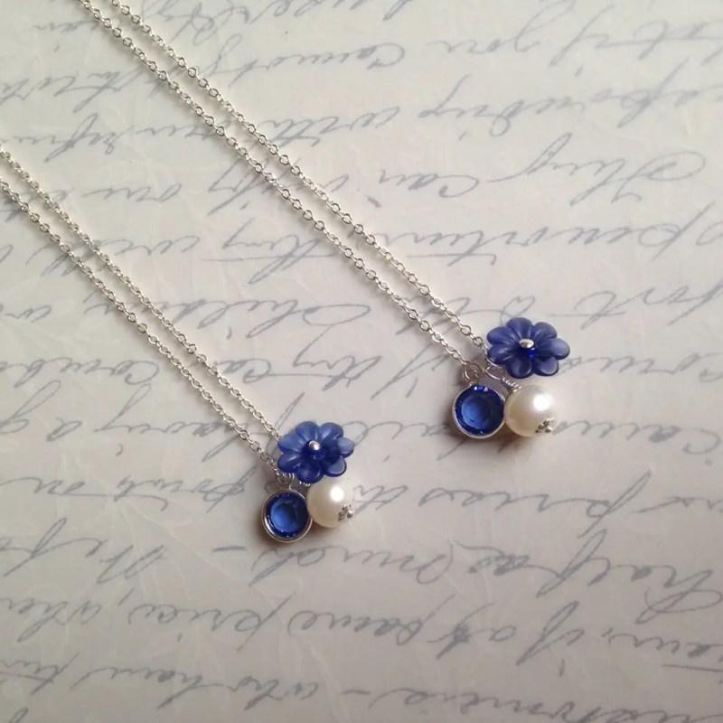 blue charm necklaces