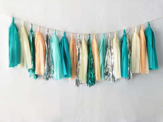 blues tassel garland