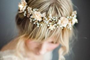 bohemian wedding hair wreath