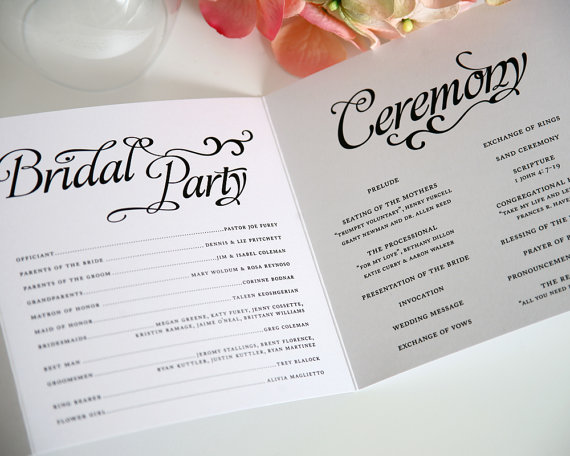 booklet wedding ceremony program - paper goods wedding