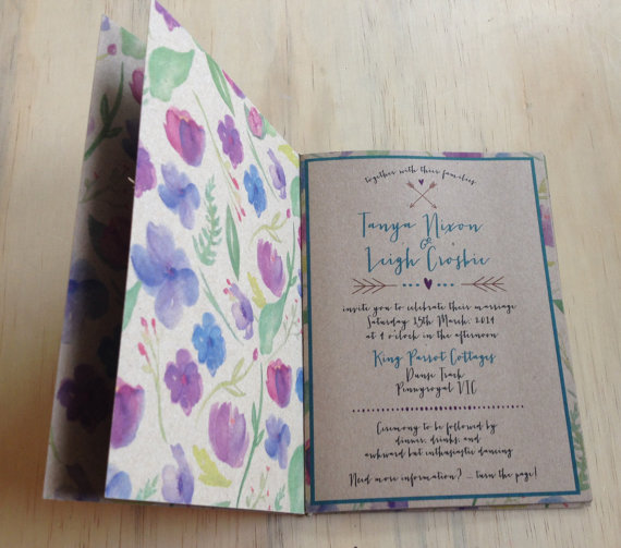 How The Booklet Wedding Invitation Is A Genuis Idea