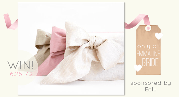 wedding bow clutches giveaway via emmalinebride.com (clutches by eclu)