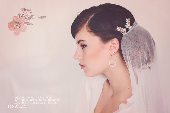 bridal hair pin photo - photo by tina liv, hair pin by gadegaarddesign