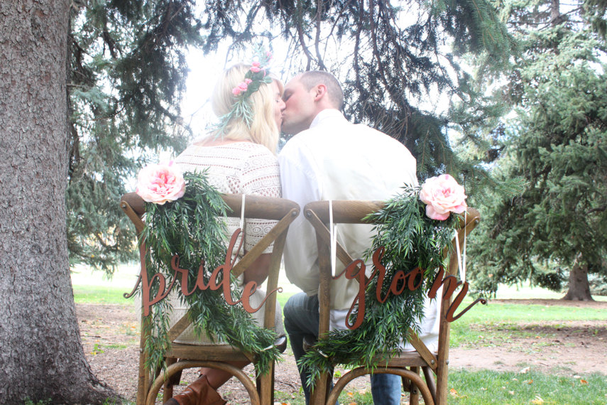 bride and groom chair signs cute | via bride and groom chair signs http://emmalinebride.com/decor/bride-and-groom-chairs/