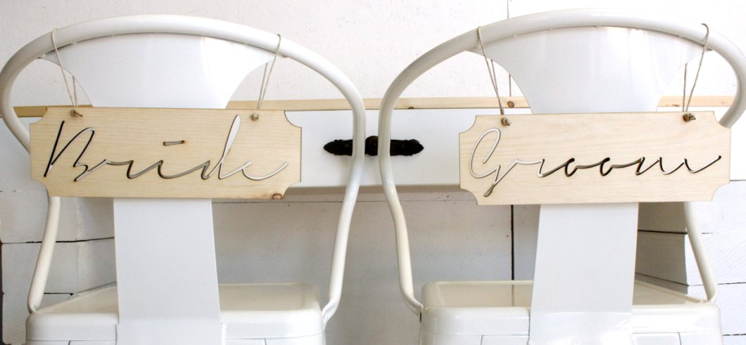 bride and groom chairs   via bride and groom chair signs http://emmalinebride.com/decor/bride-and-groom-chairs/   via http://emmalinebride.com/decor/bride-and-groom-chairs/
