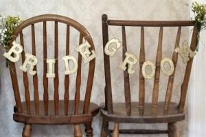 bride groom chair signs rustic chic