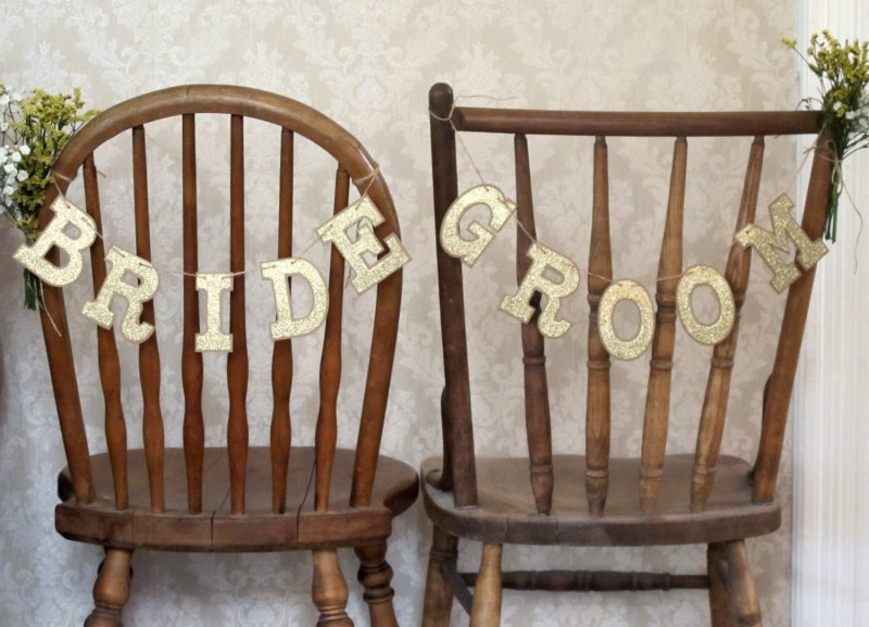 bride groom chair signs rustic chic by JoBlake | rustic chic wedding ideas