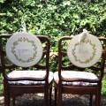 bride groom chair signs
