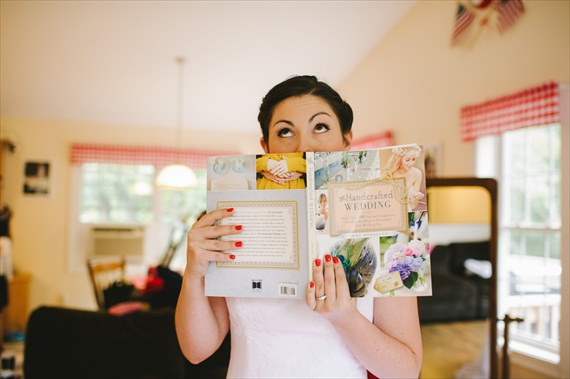 The Handcrafted Wedding book (held by bride, Libby) - Americana Wedding: Libby + Ernie (photo: michelle gardella)