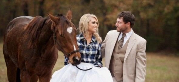 bride plaid shirt