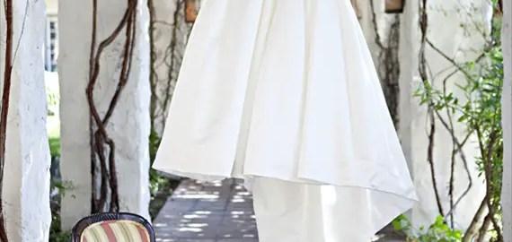 bride's dress on custom hanger - photo by Shillawna Ruffner Photography