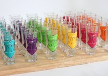 bridesmaid shot glasses