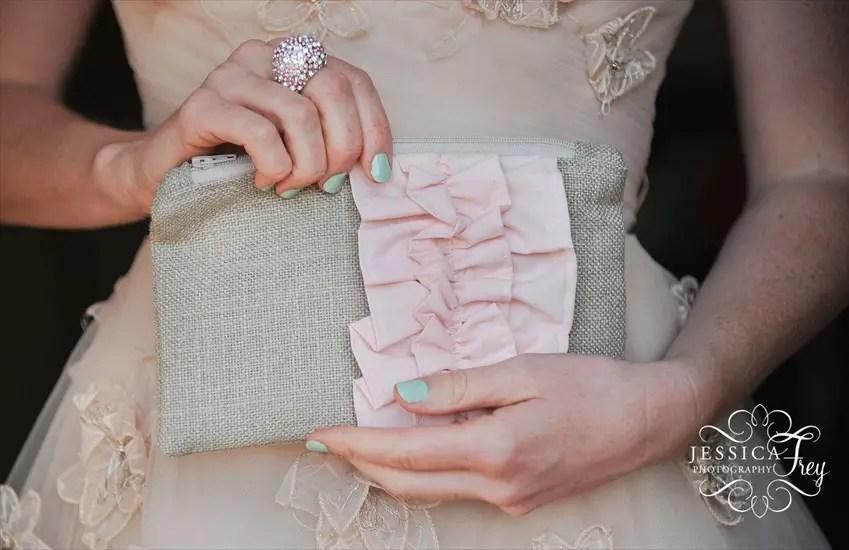 burlap clutch bag | 50 Best Burlap Wedding Ideas | via http://emmalinebride.com/decor/burlap-wedding-ideas/