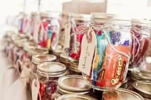 candy mason jar favors