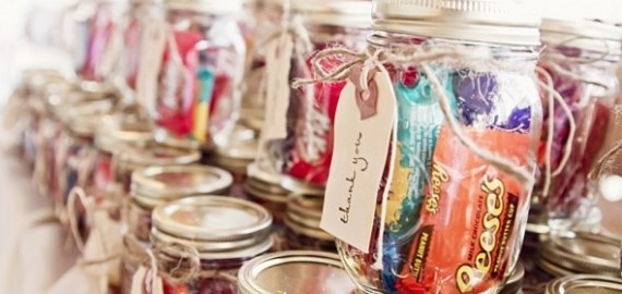 candy mason jar favors